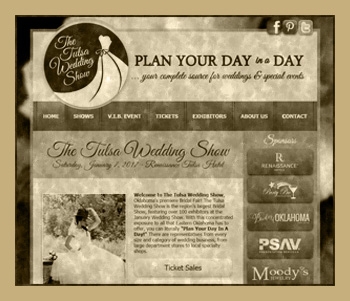 The Tulsa Wedding Show - Marketing Site - Built by Land Run Web Group